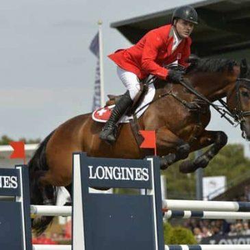 Niklaus Rutschi reitet im Nationenpreis in Falsterbo den erst 9-jährigen Schweizer Wallach Cardano